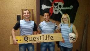 """Quest Life: Квест комната """"Проклятие черной жемчужины"""""""